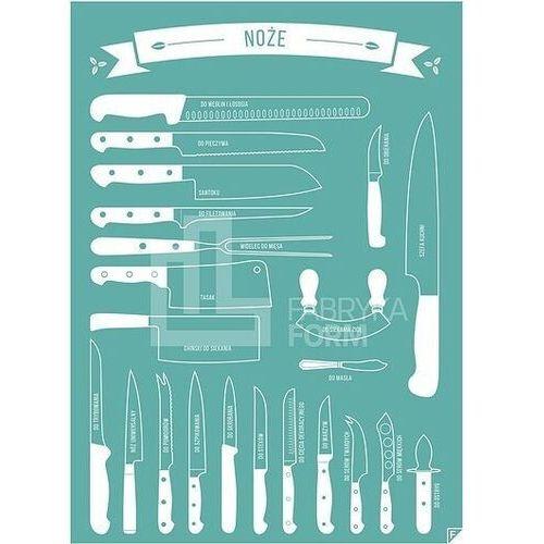Plakat noże turkusowy 30 x 40 cm marki Follygraph