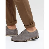 brogues in grey suede - grey marki Dune