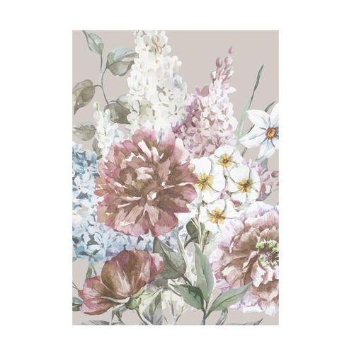 Art canvas Kanwa kwiaty taupe 70 x 100 cm (5901844231610)