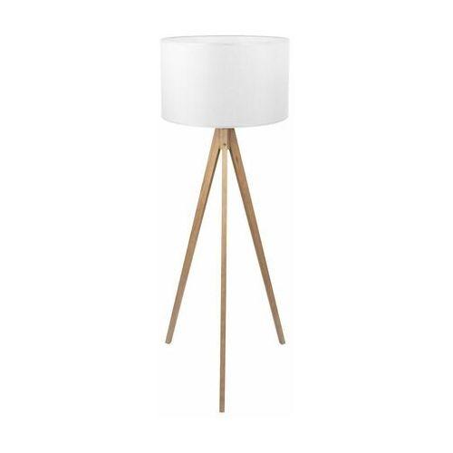 Tklighting Tk lighting treviso 5038 lampa podłogowa stojąca 1x60w e27 biały/sosna