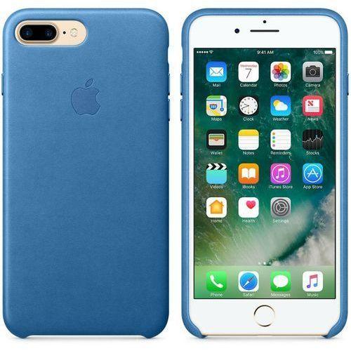 Apple Leather Case - Skórzane etui iPhone 7 Plus (dżdżysty błękit), kolor niebieski