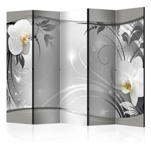 Artgeist Parawan 5-częściowy - srebrna abstrakcja ii [room dividers]