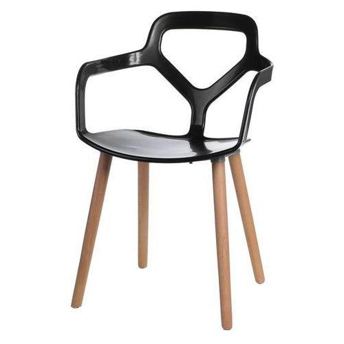Krzesło Nox Wood - czarny, 41975