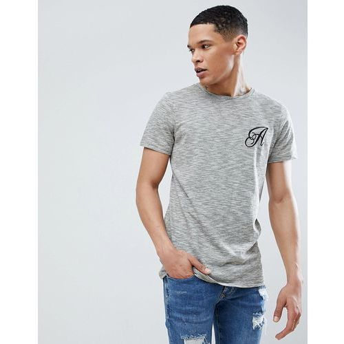Another Influence Long Line Curved Hem Stretch Logo T-Shirt - Green