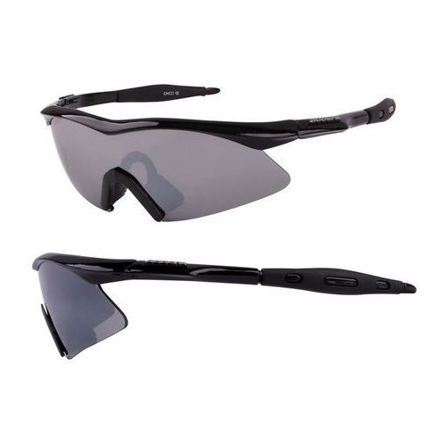 Okulary ACCENT Chico czarny / Kolor soczewek: szare / Rodzaj szkieł: standardowe