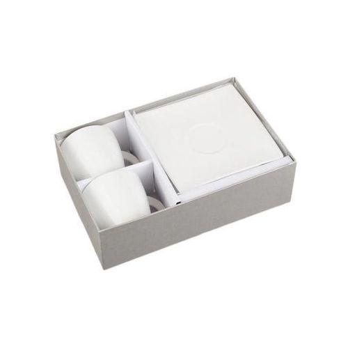 zestaw komplet 2 filiżanki białe na prezent marki Duo