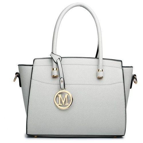 Klasyczna torebka na ramię miss lulu lt1625 popielaty
