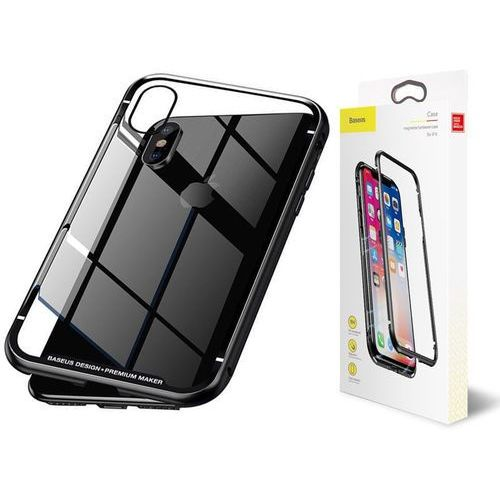 Etui Baseus magnetic case szklane do Apple iPhone X/Xs black (6953156277137)