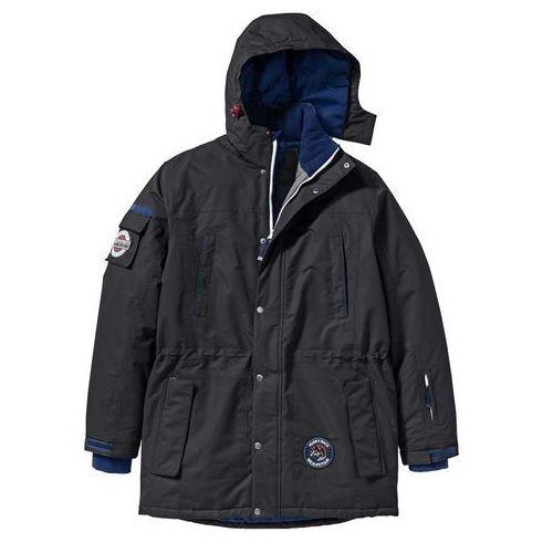 Długa kurtka funkcyjna regular fit czarny marki Bonprix
