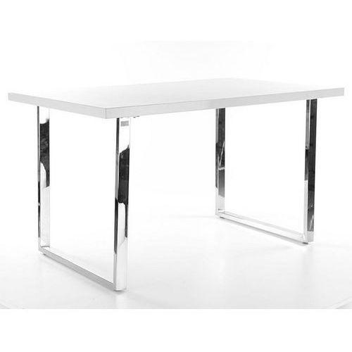 Stół z białym blatem i metalową podstawą ring marki Signal