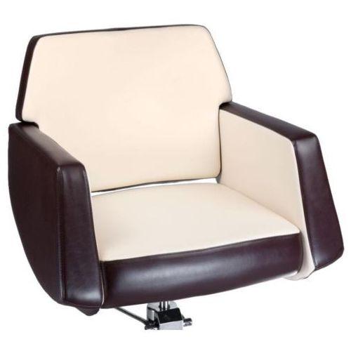 Fotel fryzjerski nico brązowy-kremowy bd-1088 marki Beauty system