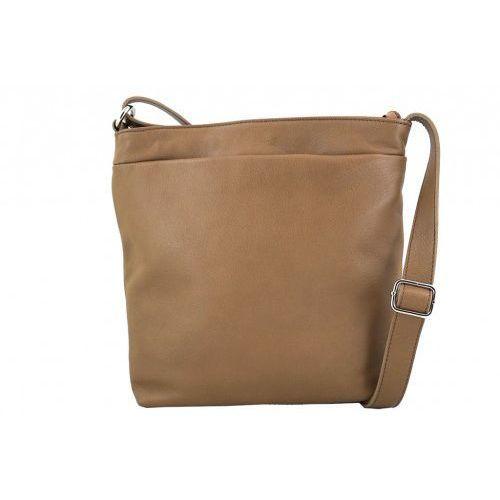 Barberini's - torebki damskie skórzane - listonoszki - beżowy ciemny