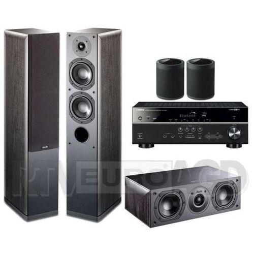 musiccast rx-v485 (czarny), indiana line nota 550 x/740 x (czarny dąb) / yamaha 2x wx-021 (czarny) marki Yamaha