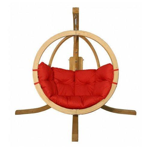 Producent: elior Okrągły czerwony fotel ogrodowy - parys 2x