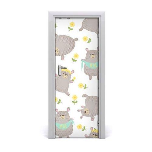 Naklejka samoprzylepna na drzwi ścianę Niedźwiadki