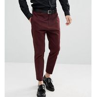 Religion Tapered Smart Trouser In Burgundy - Red, kolor czerwony