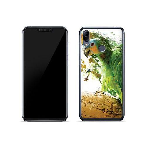 Asus Zenfone Max (M2) (ZB633KL) - etui na telefon Foto Case - zielona papuga, ETAS837FOTOFT011000