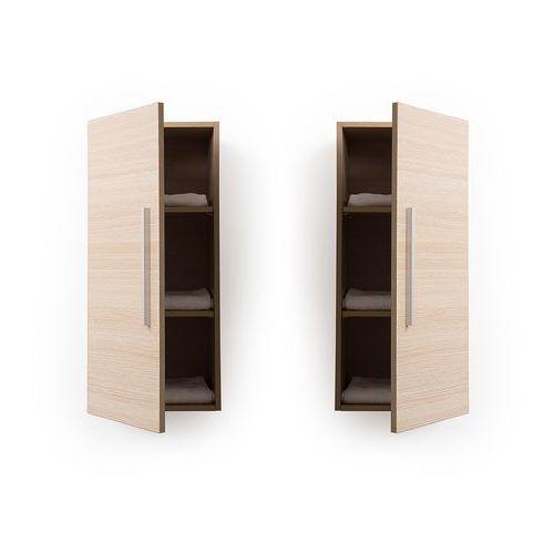 Szafka łazienkowa wisząca jasne drewno bilbao marki Beliani