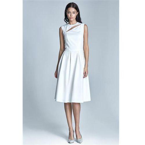 Sukienka Model Ann S73 1214 Ecru, kolor beżowy