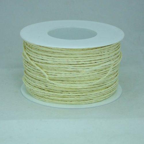 Creativehobby Ozdobny sznurek papierowy z drutem - kremowy - kre