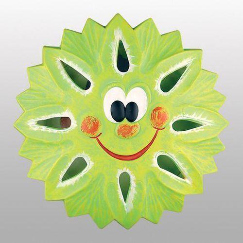 Lampex Kinkiet ścienny słońce 60w zielony
