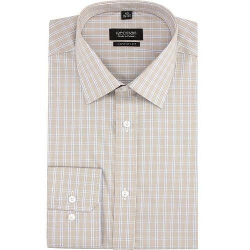 Recman Koszula versone 2754 długi rękaw custom fit beż