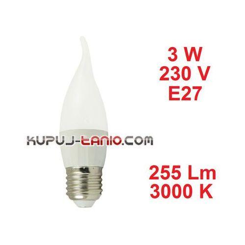 Aigostar Żarówka led płomień (cl35) 3w, 230v, gwint e27, barwa biała ciepła