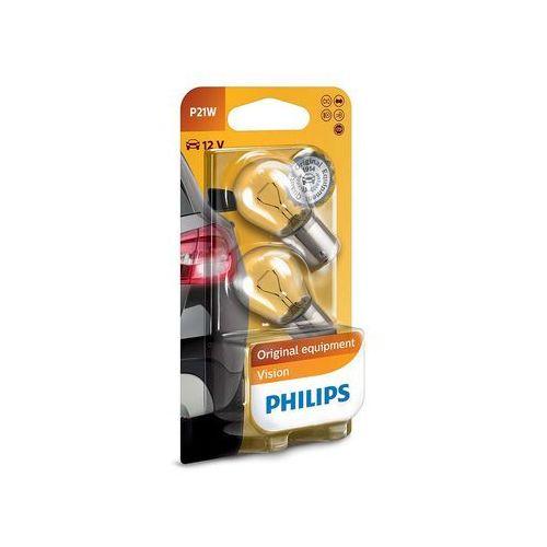 Zestaw 2x żarówka samochodowa vision 12498b2 p21w ba15s/21w/12v marki Philips