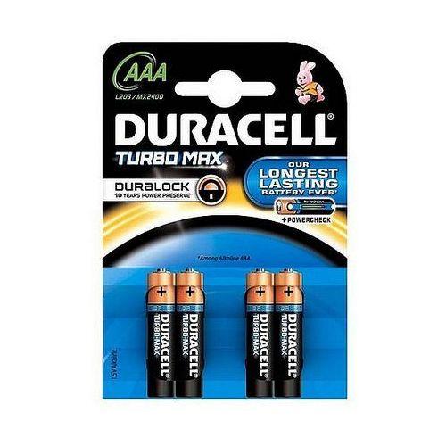 Baterie alkaliczne Duracell Turbo AAA LR03 1,5V, 4 +2szt