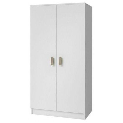 Skandynawska szafa z kolorowymi uchwytami piccolo 11x - biała marki Producent: elior