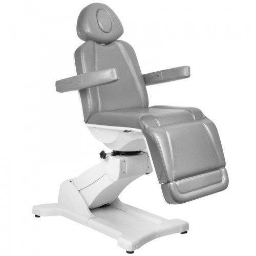 Activeshop Fotel kosmetyczny elektr. azzurro 869a obrotowy 4 siln. szary