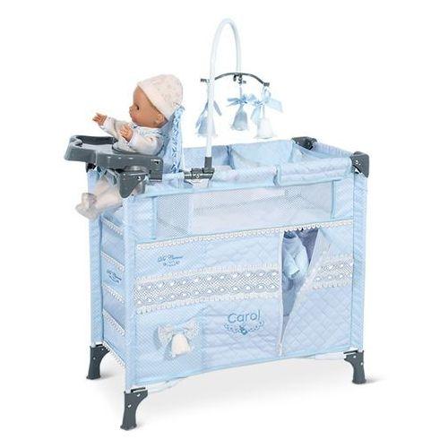 Decuevas składane łóżko dla lalek z 5 funkcjonalnymi akcesoriami carol