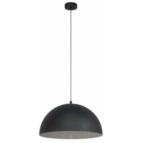 Eglo gaetano 1 99452 lampa wisząca zwis 1x40w e27 czarna/szara