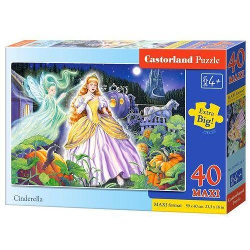 Puzzle 40 elementów maxi cinderella bpz marki Castor
