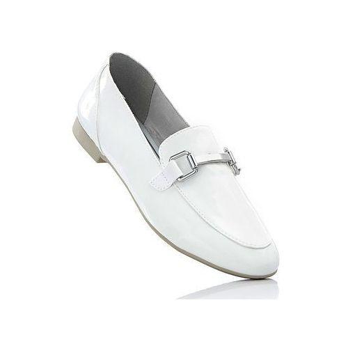 Buty wsuwane Marco Tozzi bonprix biały lakierowany
