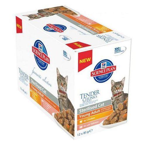 Hills SP Feline Adult Sterilised saszetka 12x370g multipack