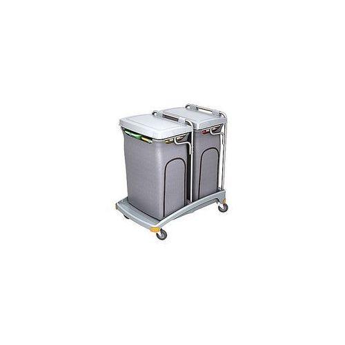 Splast Wózek czteroworkowy na odpady z pokrywą