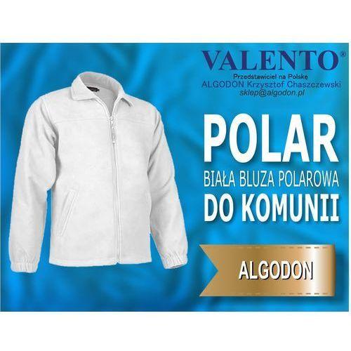 Dziecieca bluza polar komunijna komunia i inne kolory xs-10-12-wzrost-152-164 bialy marki Valento