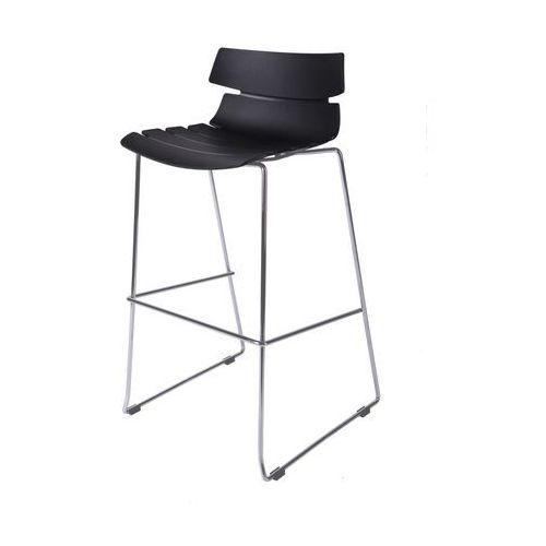 D2 6981 stołek barowy techno czarny