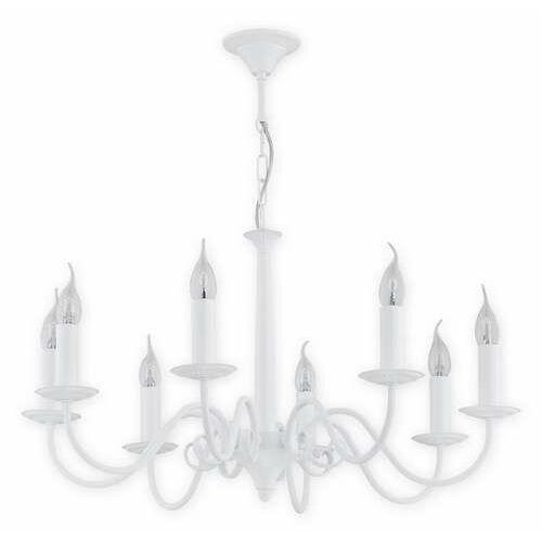 Lemir asti o2898 w8 bia lampa wisząca zwis 8x60w e14 biały matowy (5907176575224)