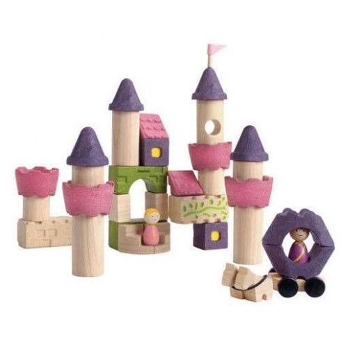 Kolorowe Klocki - Zamek Księżniczki 35el. PLAN TOYS,