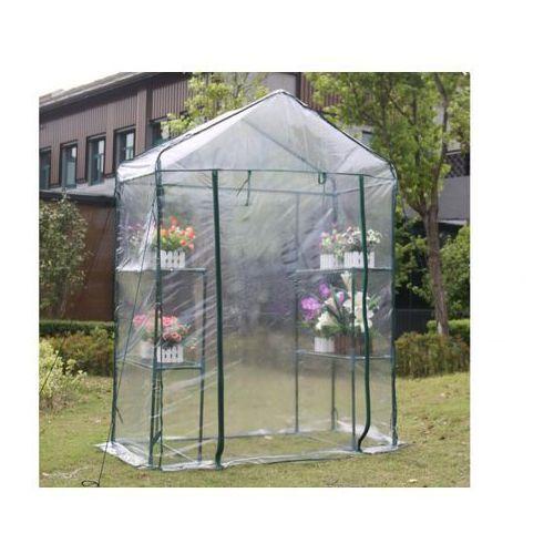 Mini szklarnia ogrodowa z konstrukcją stalową WILSONEA 1 m² - szer. 143 × szer. 73 × wys. 195 cm
