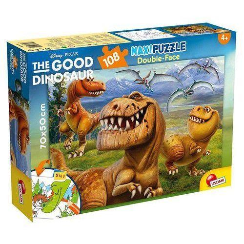 Puzzle dwustronne 2w1 supermaxi 108 dobry dinozaur marki Lisciani