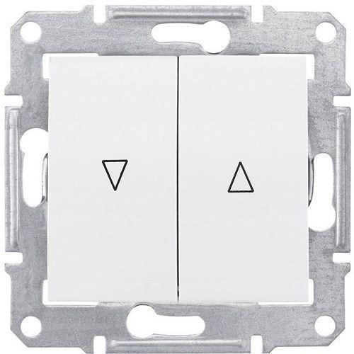 Sedna Przycisk żaluzjowy 2-biegunowy z blokadą elektryczną 10A biały SDN1300121 SCHNEIDER ELECTRIC