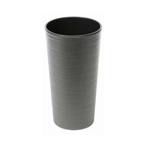 doniczka dłuto lilia fi 19 h37cm grafit + wkład marki Lamela