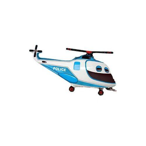 Balon foliowy do patyka Helikopter Policyjny - 36 cm - 1 szt.