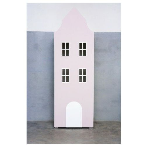 Elior Różowa szafa domek camino 3x - 6 kolorów