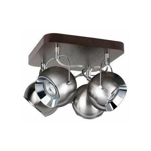Spot light ball wood 5131476 kinkiet lampa ścienna 4x6w gu10 brązowy/szary