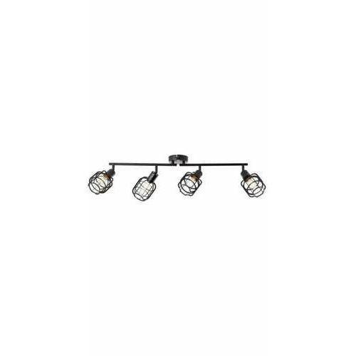 Brilliant Spacid 48131/76 plafon lampa sufitowa 4x40W E14 czarna (4004353378928)
