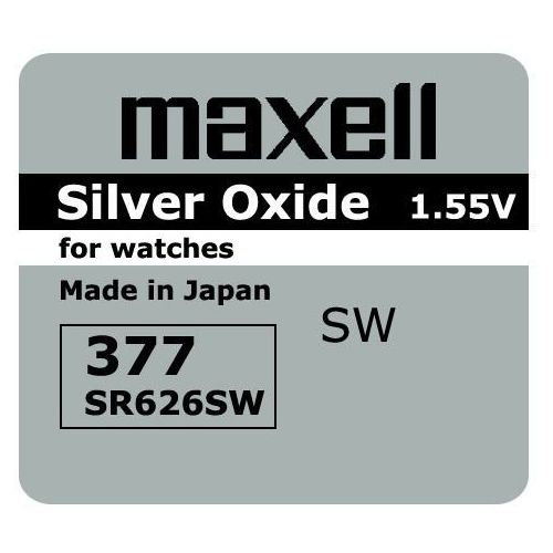bateria srebrowa mini Maxell 377 / 376 / SR 626 SW / G4
